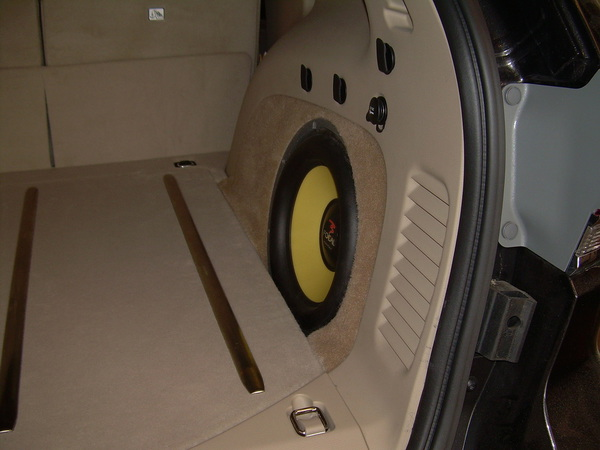 Jeep Cherokee Custom Subwoofer In Factory Location on Jeep Grand Cherokee Subwoofer Box